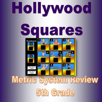 Hollywood Squares Metric System Review By Math Diva Productions Tpt