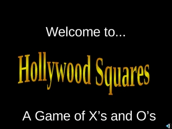 Hollywood Squares game ppt