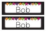 Hollywood Star Name Plates Desk Tags - Editable!