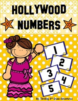 Hollywood Star Numbers (Calendar, Math Games)