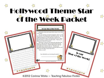 Hollywood Star of the Week Packet and Poster