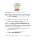 Hollywood Stars Teacher Survey in English and Spanish