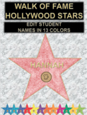 Hollywood Stars in all Colors (Editable)