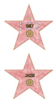 Hollywood Stars (Editable)