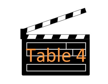 Hollywood Table Numbers