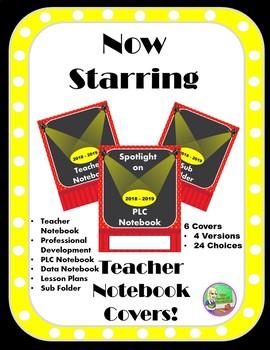 Hollywood Teacher Binder Covers