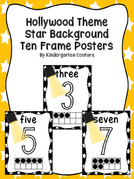 Hollywood Ten Frame Number Posters 0-10