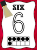 Hollywood Ten Frame Number Posters -Marquee Lights