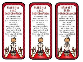 Hollywood Testing Theme Motivational Bookmarks *EDITABLE MESSAGE*