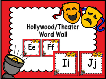 Hollywood/Theater Word Wall
