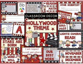 Hollywood Theme Classroom Decorations