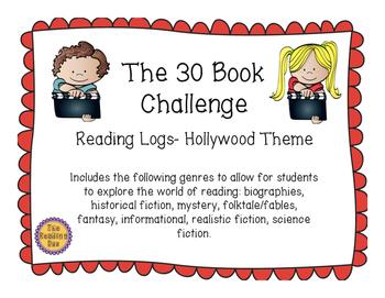 Hollywood Theme 30 Book Challenge