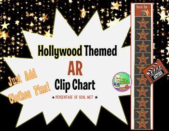 Hollywood Theme ★ AR Clip Chart (Percentage of Goal)