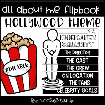 Hollywood Theme All About Me Flipbook