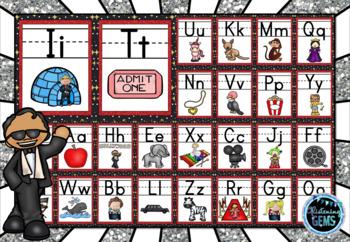 Hollywood Theme Alphabet Posters - 3 sets