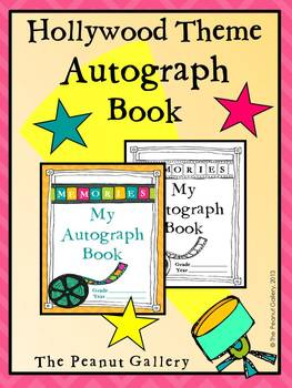End of Year Autograph Book (Hollywood Theme)