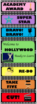 Hollywood Theme Behavior Clip Chart