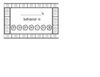 Hollywood Theme Behavior Punch Cards