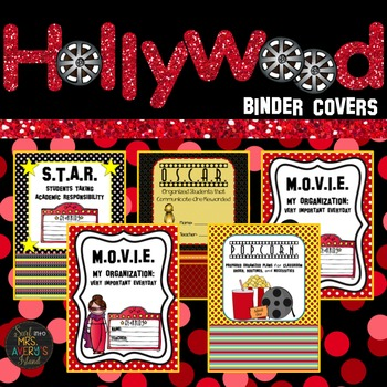 Hollywood Theme Binder Covers