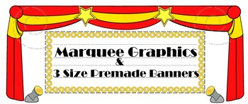Hollywood Theme Bulletin Board Marquees