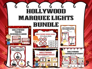 Hollywood Theme Bundle -Marquee Lights