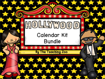 Hollywood Theme Calendar Kit Bundle