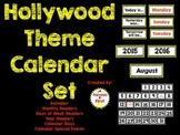 Hollywood Theme Calendar Set