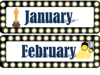 Hollywood Theme Class Calendar