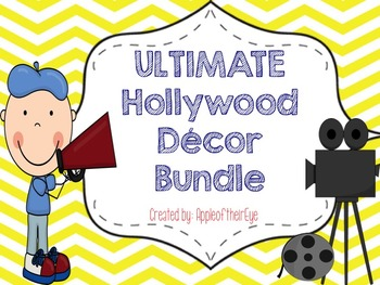 Hollywood Theme Classroom Bundle- UPDATED