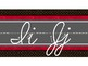 Hollywood Theme Classroom Decor Traditional Cursive Red, Black, Chalkboard Strip