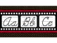 Hollywood Theme Classroom Decor Traditional Cursive Red, Black, Filmstrip Strip
