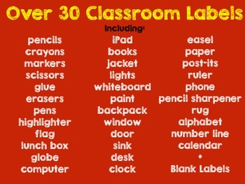 Hollywood Theme Classroom Labels