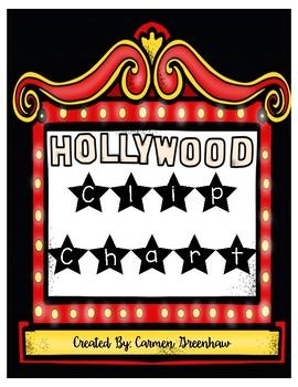 Hollywood Theme Clip Chart