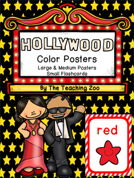 Hollywood Theme Color Identification Posters