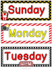 Hollywood Theme Days of the Week