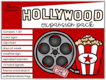 Hollywood Theme Decor {Expansion Pack}