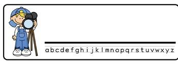 Hollywood Theme Desk Nameplates (Set of Four)