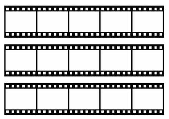 Hollywood Theme Film Strip Bulletin Board Border