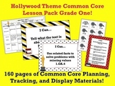 Hollywood Theme Grade One Common Core Lesson Planning Pack