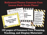 Hollywood Theme Grade Three Common Core Lesson Planning Pack
