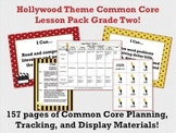 Hollywood Theme Grade Two Common Core Lesson Planning Pack