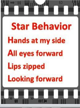 Hollywood Theme Hallway Behavior Expectations Poster