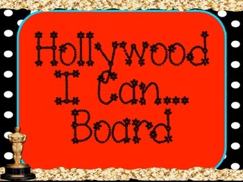 "Hollywood Theme "" I Can"" Board"