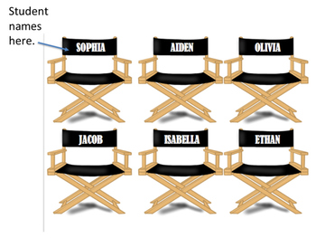 Hollywood Theme Job Chart