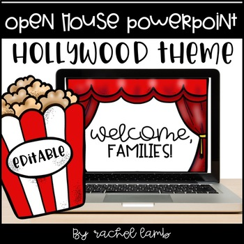Hollywood Theme Parent Night Open House PowerPoint