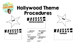 Hollywood Theme Procedures Back to School
