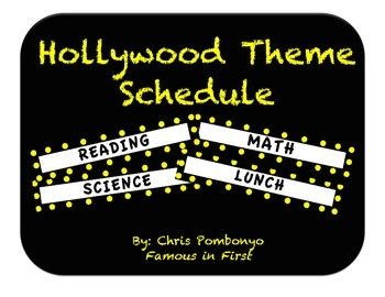 Hollywood Theme Schedule