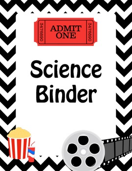 Hollywood Theme Science Binder Cover for Homework or Classwork