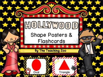 Hollywood Theme Shape Posters and Flashcards