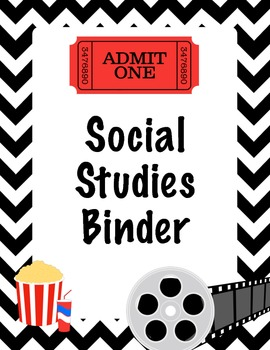 Hollywood Theme Social Studies Binder Cover - Homework and Classwork
